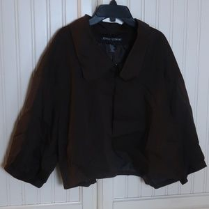 Ashley Stewart Brown Jacket Plus Size 22